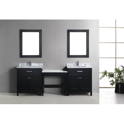 Middletown 90 Double Bathroom Vanity Set Base Finish: Espresso