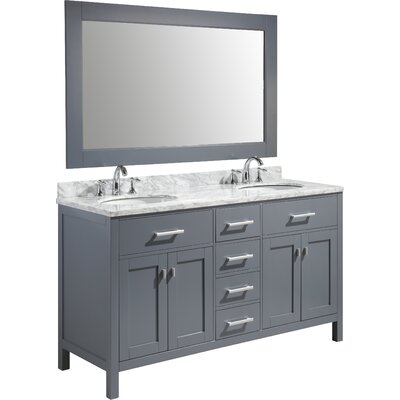 Middletown 61 Double Sink Vanity Set with Mirror