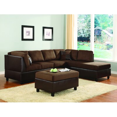 Brookdale Modular Sectional Upholstery : Chocolate