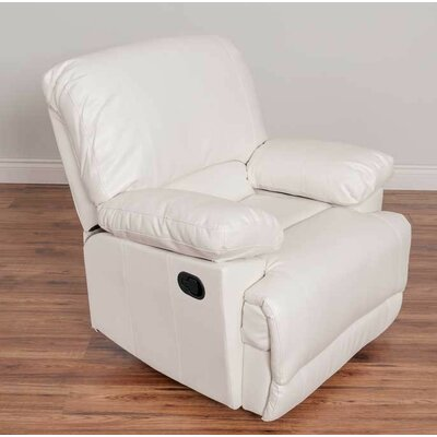 Condron Manual Recliner Upholstery: White