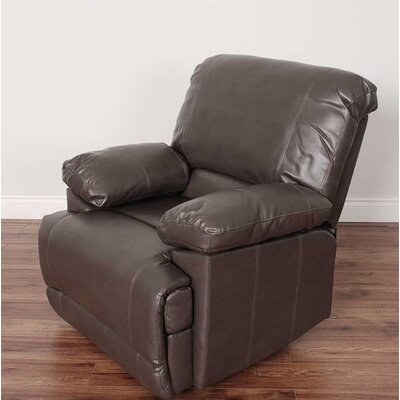 Condron Bonded Leather Recliner Upholstery: Brown