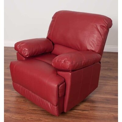 Condron Manual Recliner Upholstery: Red