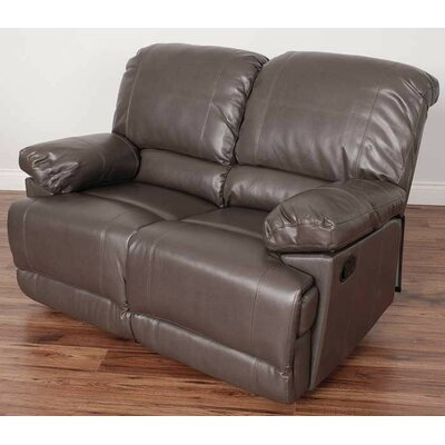 Condron Reclining Loveseat Upholstery: Brown