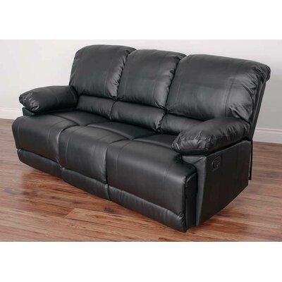 Condron Reclining Sofa Upholstery: Black
