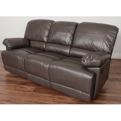 Condron Reclining Sofa Upholstery: Brown