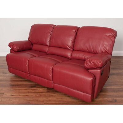 Condron Reclining Sofa Upholstery: Red