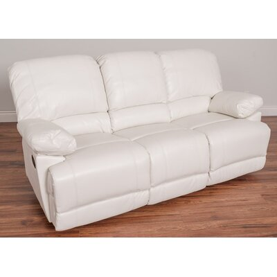 Condron Reclining Sofa Upholstery: White