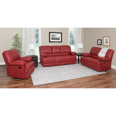 Red Barrel Studio RDBS6649 32537356 Condron 3 Piece Reclining Sofa Set Upholstery