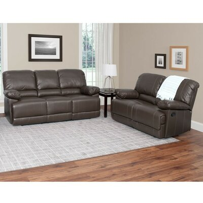 Condron 2 Piece Reclining Sofa Set Upholstery: Brown