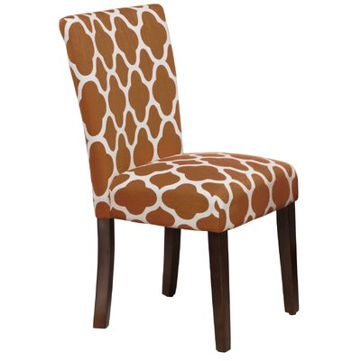 Conde Parsons Chair Upholstery: Rust