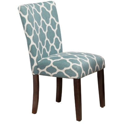 Conde Parsons Chair Upholstery: Teal Blue