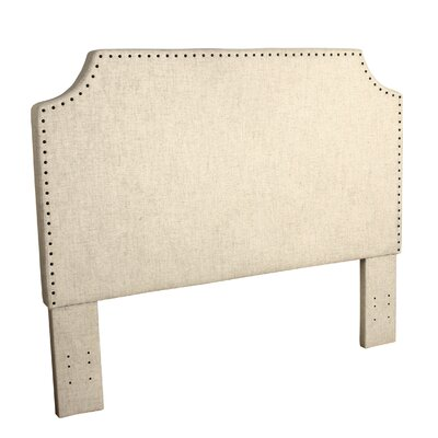 Courtemanche Upholstered Panel Headboard Color: Natural Linen