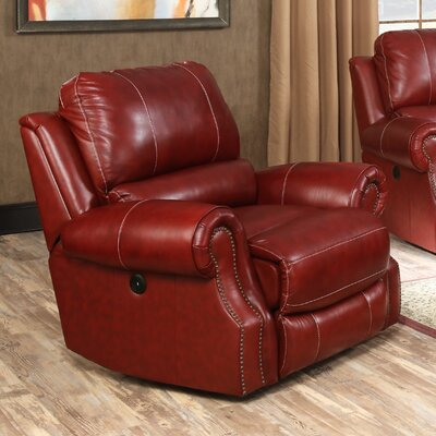 Crete Power Recliner Color: Wine