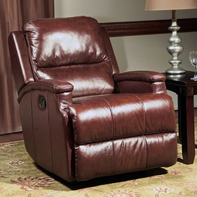 Cordeiro Leather Glider Recliner