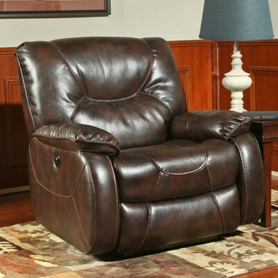 Cornelison Power Recliner Upholstery: Nutmeg