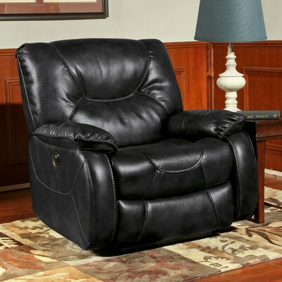 Cornelison Power Recliner Upholstery: Black
