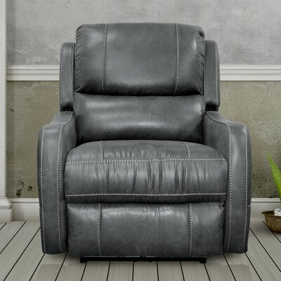 Correia Flat Power Recliner Upholstery: Platinum
