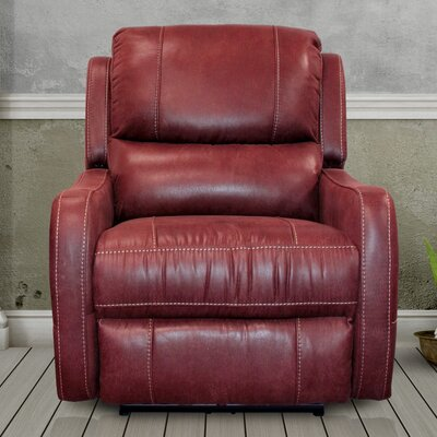 Correia Flat Power Recliner Upholstery: Ruby