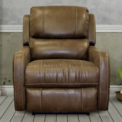 Correia Flat Power Recliner Upholstery: Stone