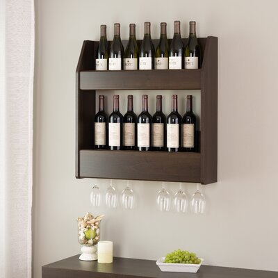 Chancey 24 Bottle Wall Mounted Wine Rack Finish: Espresso