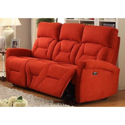 Crippen Power Reclining Sofa Upholstery: Red