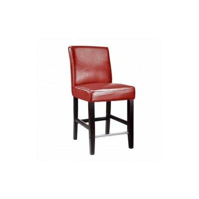 Cummingham 25 Bar Stool Upholstery: Red