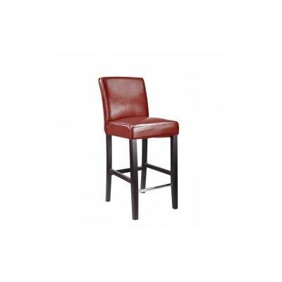 Cummingham 31 inch Bar Stool Upholstery: Red