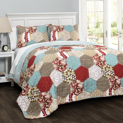 Claycomb 3 Piece Quilt Set Size: King