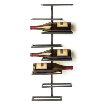 Curren 8 Bottle Wall Mounted Wine Rack