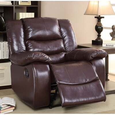 Defalco Manual Recliner Upholstery: Brown