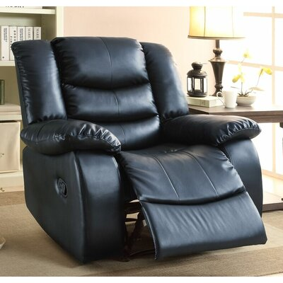 Defalco Manual Recliner Upholstery: Black