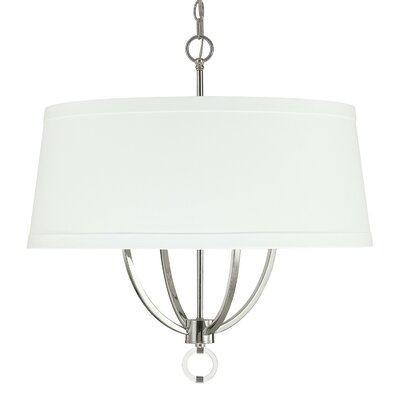 Kincaid 4-Light Drum Pendant Shade Color: White