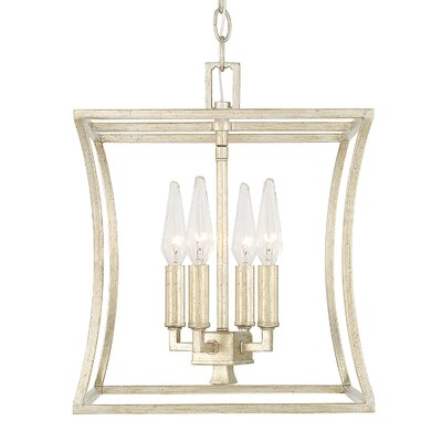 Dangerfield 4-Light Foyer Pendant Finish: Winter Gold
