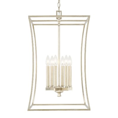 Dangerfield 6-Light Foyer Pendant Finish: Winter Gold