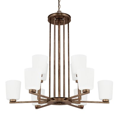 Friedlander 10-Light Shaded Chandelier