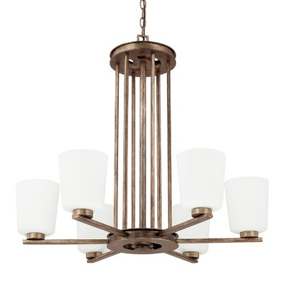 Friedlander 6-Light Shaded Chandelier