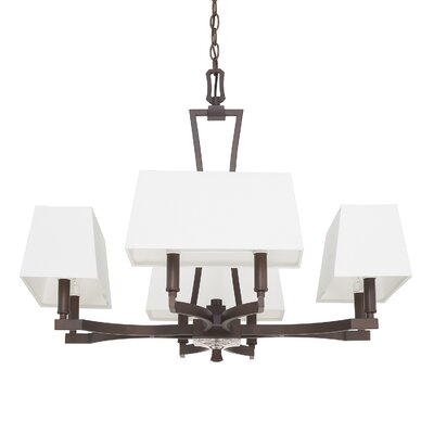 Dangerfield 8-Light Shaded Chandelier Finish: Burnished Bronze, Size: 26.5 H x 42.5 W x 25 D