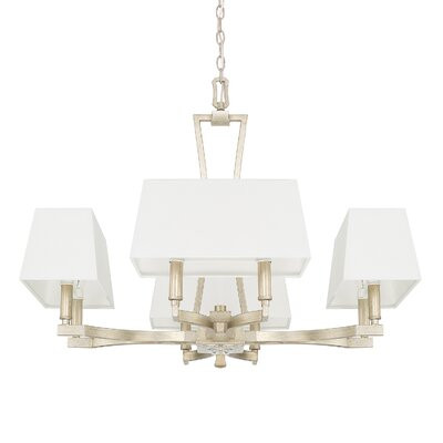 Dangerfield 8-Light Shaded Chandelier Finish: Winter Gold, Size: 23.5 H x 28 W x 28 D