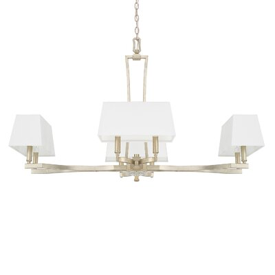 Dangerfield 8-Light Shaded Chandelier Finish: Winter Gold, Size: 26.5 H x 42.5 W x 25 D