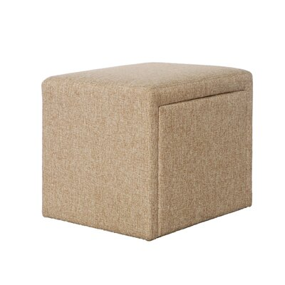 Cutshall 4 Piece Multi Functional Storage Ottoman Set Upholstery: Beige