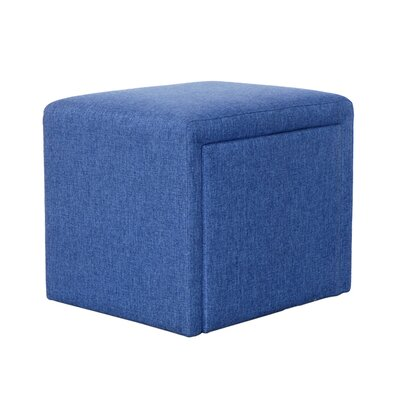 Cutshall 4 Piece Multi Functional Storage Ottoman Set Upholstery: Blue