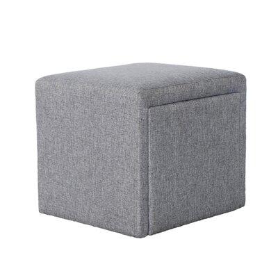 Cutshall 4 Piece Multi Functional Storage Ottoman Set Upholstery: Gray
