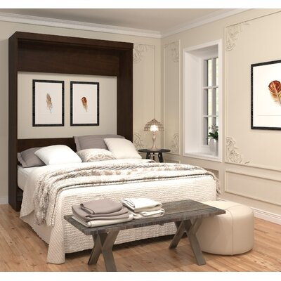 Jordan Queen Murphy Bed Color: Chocolate