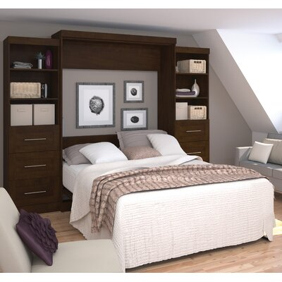 Jordan Queen Storage Murphy Bed Finish: Chocolate