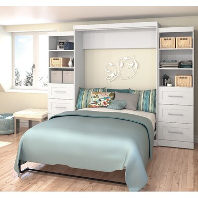 Jordan Queen Storage Murphy Bed Finish: White