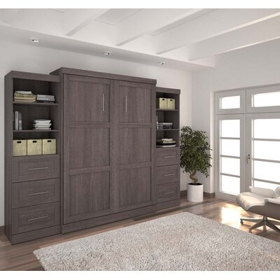 Jordan Queen Storage Murphy Bed Color: Dark Gray
