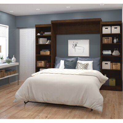 Jordan Queen Storage Murphy Bed Color: Chocolate
