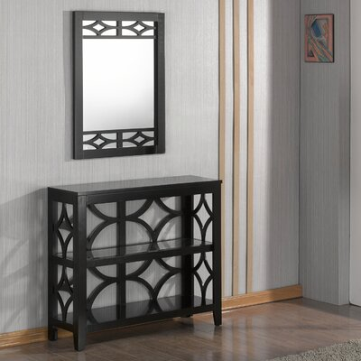 Demello Console Table and Mirror Set Finish: Black