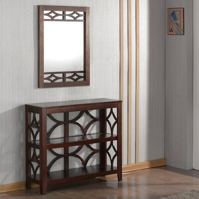 Demello Console Table and Mirror Set Finish: Mahogany