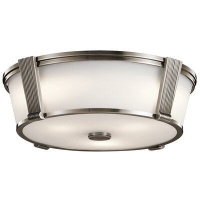 De Witt 2-Light Flush Mount Finish: Classic Pewter